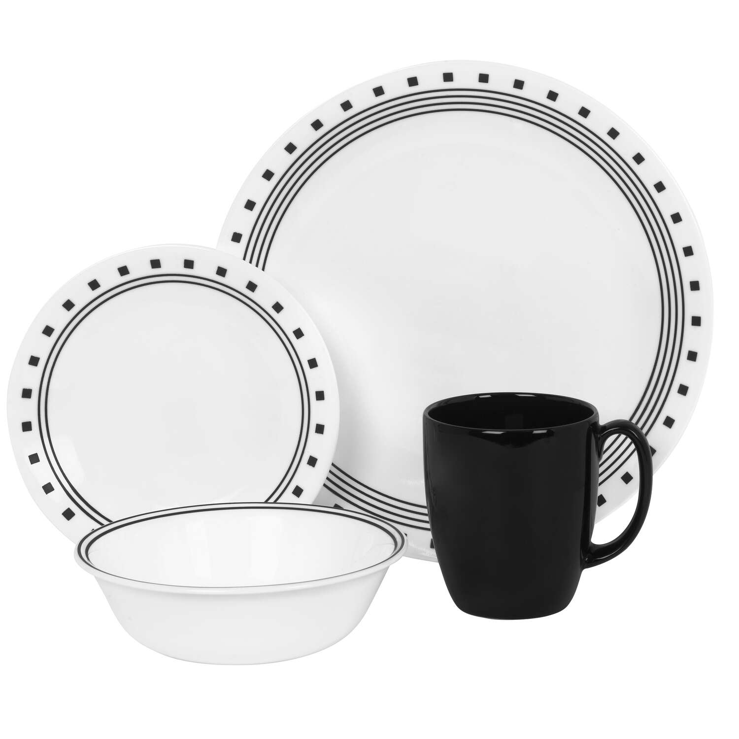 Corelle  White  Stoneware  Dinnerware Set  16 pc.