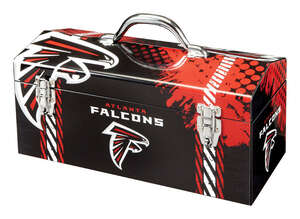 Sainty International  Atlanta Falcons  16.25 in. Steel  7.1 in. W x 7.75 in. H NFL  Art Deco Tool Bo