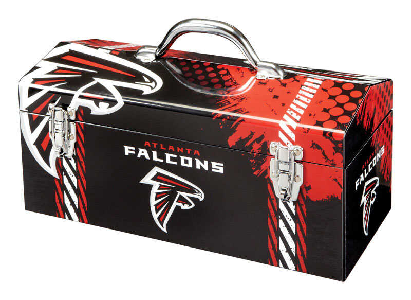 Sainty International  16.25 in. Atlanta Falcons  Art Deco Tool Box  7.1 in. W x 7.75 in. H Steel