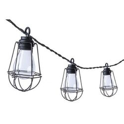 Paradise Lighting  LED  Plug-In Industrial Shade  String Light Set  Clear  10.5 ft. 10 lights