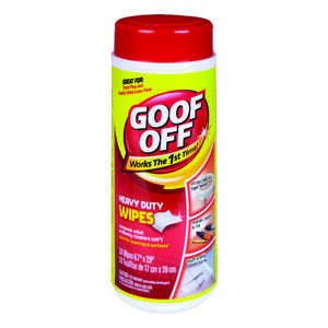 Goof Off  Heavy Duty Wipes  All Purpose Remover  30 pk