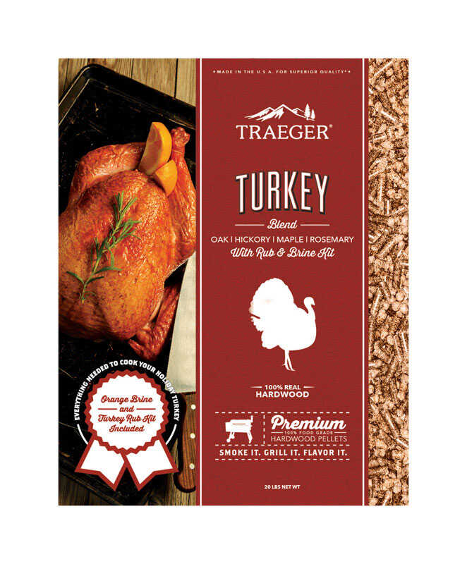 Traeger  Turkey Blend  Hardwood Pellets with Brine Kit  20 lb.
