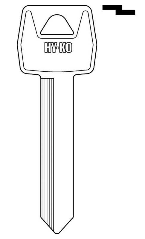 Hy-Ko  Automotive  Key Blank  EZ# H60  Double sided For Ford