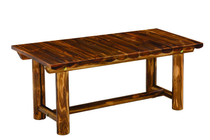Jack-Post  Northwood  Brown  Northwoods Log  Rectangular  Wood  Coffee Table