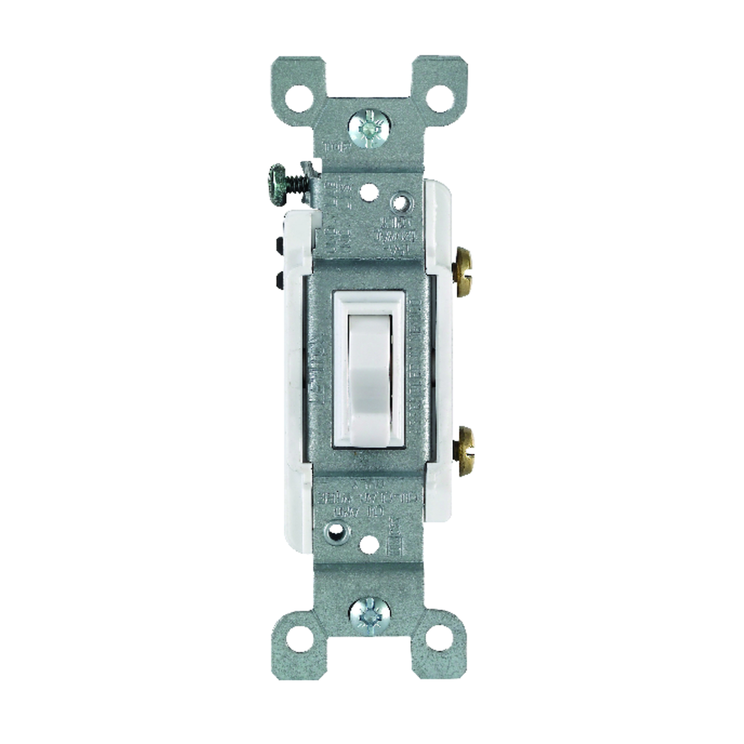 Leviton  Heavy-Duty  Switch  White  1 pk Toggle  15 amps