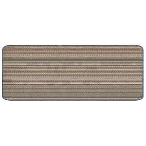Multy Home  Montana  Assorted Earthtone Stripes  Polypropylene  Nonslip Utility Mat  60 in. L x 24 i