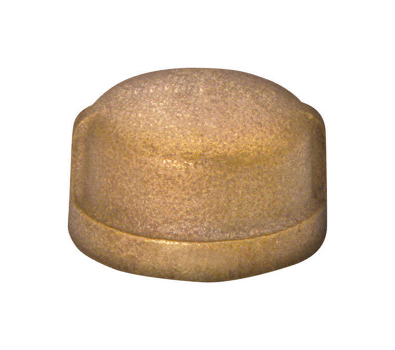 JMF  1/2 in. FPT   Red Brass  Cap