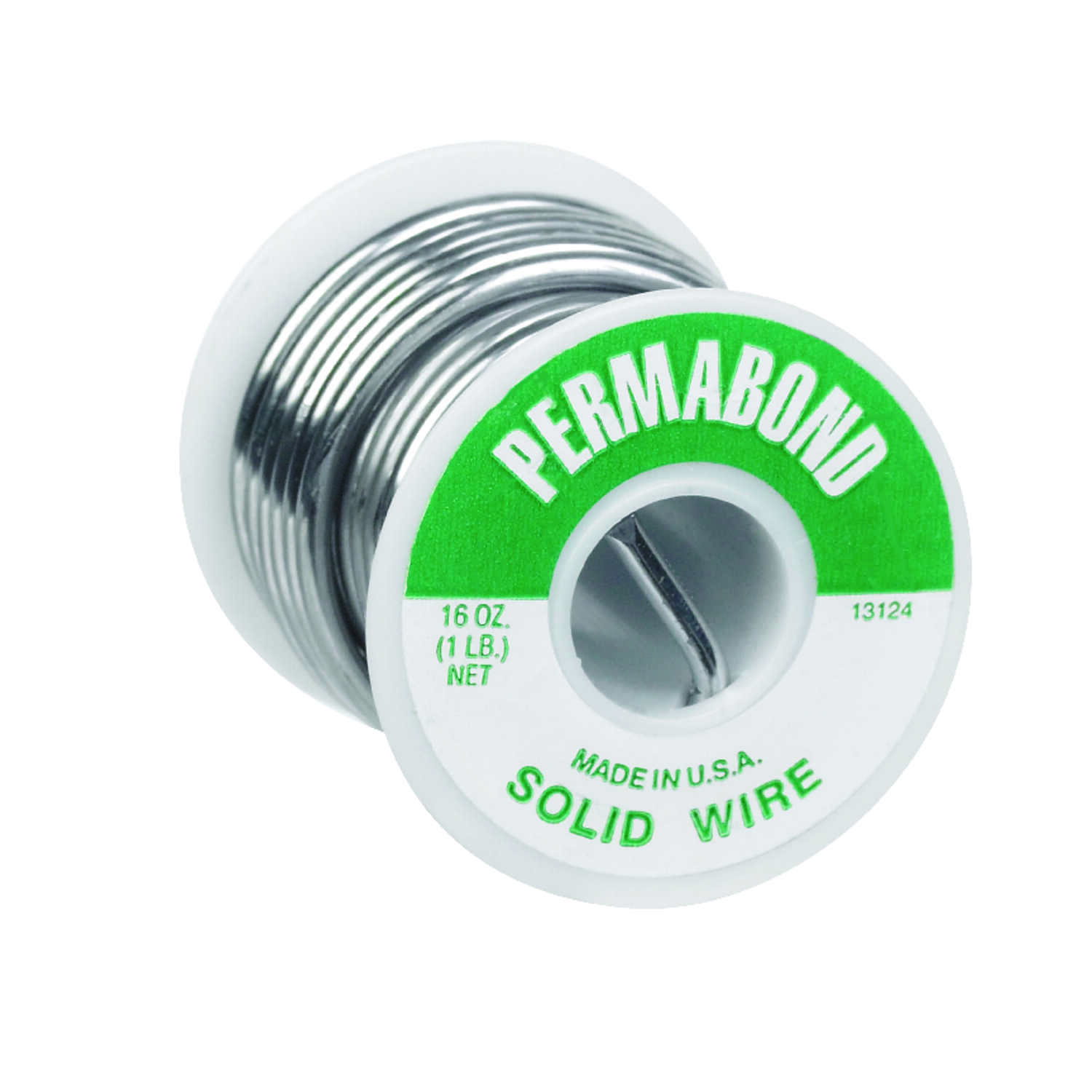 Perma Bond  16 oz. Solid Wire Solder  1/8 in. Dia. 3.3% Tin, 2.2% Antimony, 94.5% Lead