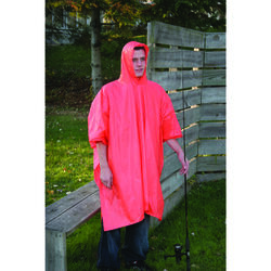 Boulder Creek  Orange  Vinyl  Rain Poncho