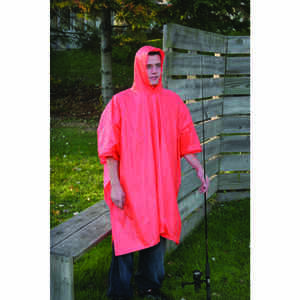 Boulder Creek  Orange  Rain Poncho  Vinyl