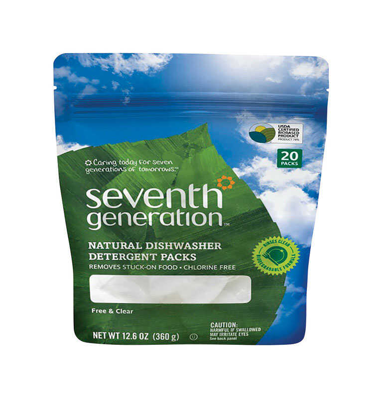 Seventh Generation  Free & Clear Scent Pods  Dishwasher Detergent  12.6 oz.