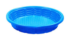 Summer Escapes  7.9 in. H x 45 in. Dia. Wading Pool  Plastic  Round
