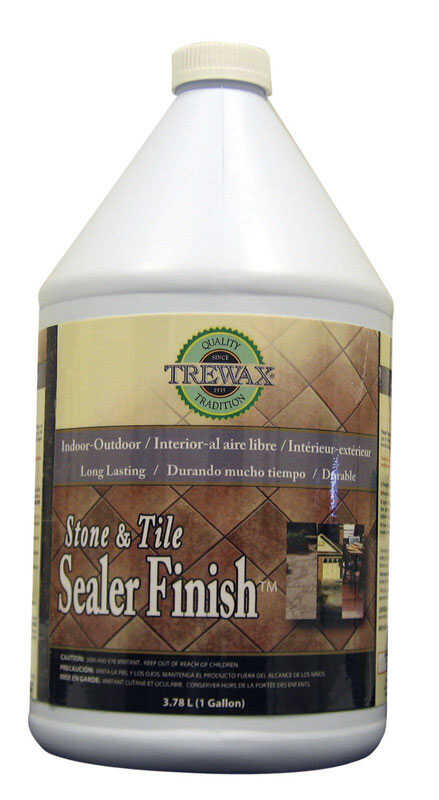 Trewax Stone and Tile Sealer Acrylic Urethane Bottle 1 gal.