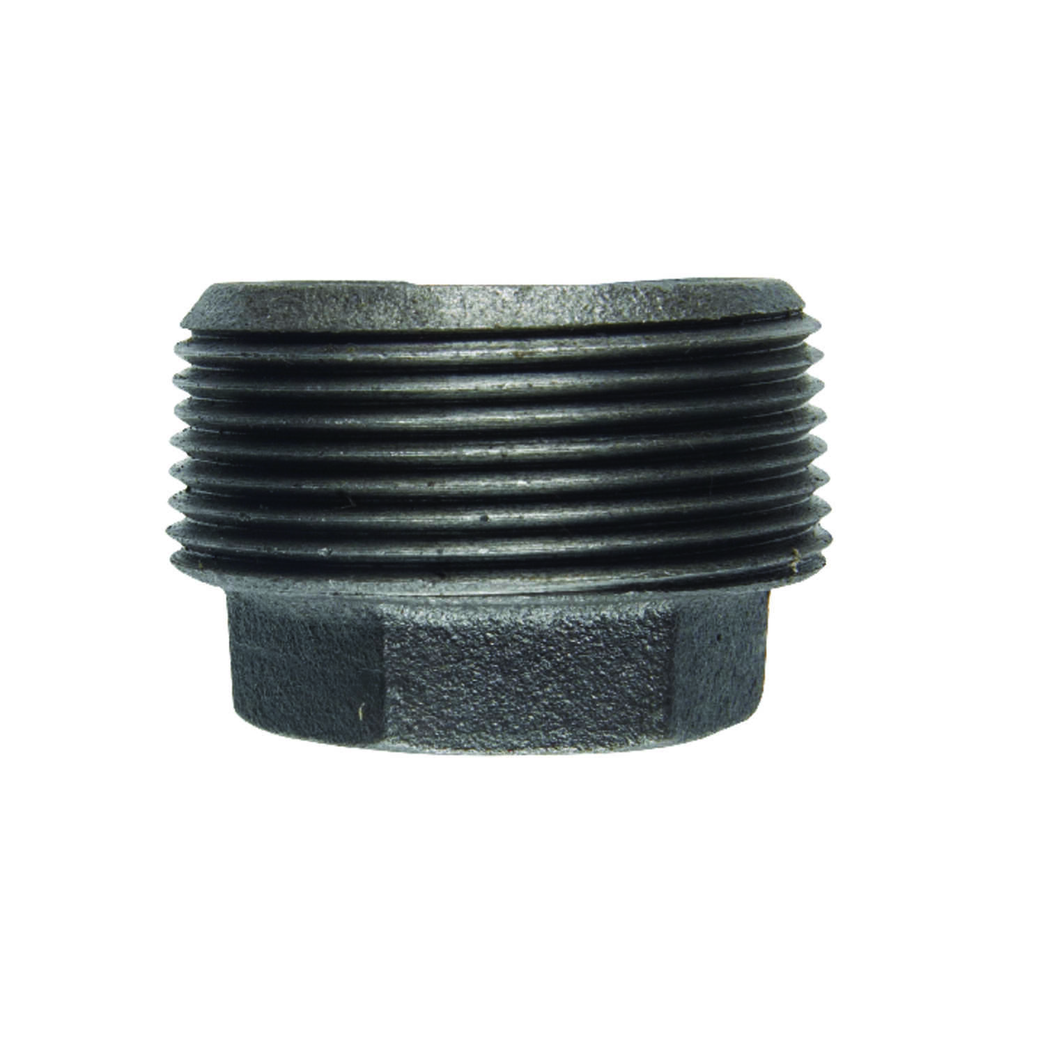 BK Products  1-1/2 in. MPT   x 3/4 in. Dia. FPT  Black  Malleable Iron  Hex Bushing