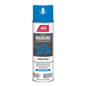 Ace  Solvent-Based  Handicap Blue  Field Marker Line  17 oz.