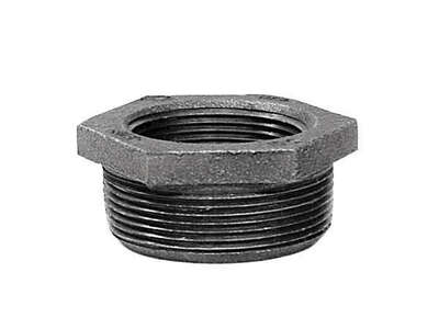 Anvil 2 in. MPT x 1 in. Dia. FPT Black Malleable Iron Hex Bushing