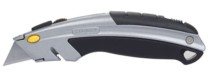 Stanley  InstantChange  6-1/2 in. Retractable  Silver  1 pc. Utility Knife
