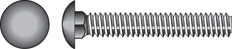 HILLMAN  1/2  Dia. x 7 in. L Zinc-Plated  Steel  Carriage Bolt  25 pk