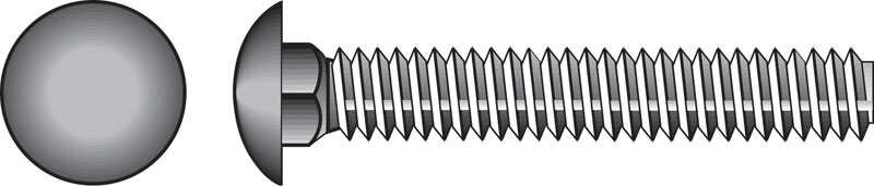 Hillman  1/2 in. Dia. x 7 in. L Zinc-Plated  Steel  Carriage Bolt  25 pk