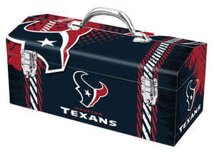 Windco  16.25 in. Steel  Houston Texans  Art Deco Tool Box  7.1 in. W x 7.75 in. H