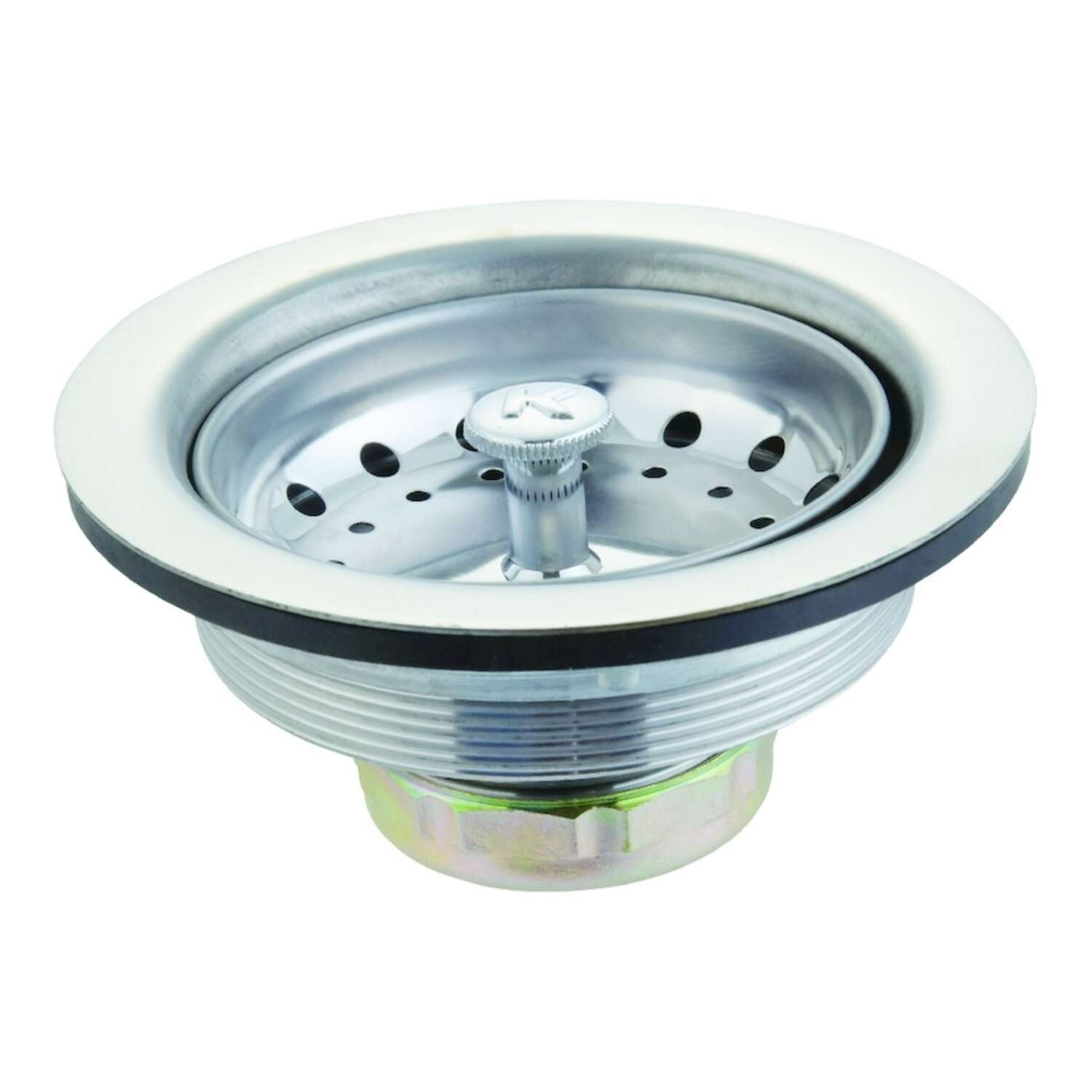 Ace  3-1/2 in. Chrome  Stainless Steel  Basket Strainer Assembly