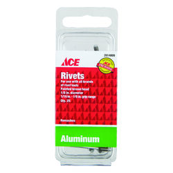 Ace  1/8 in. Dia. x 1/8 in.  Aluminum  Rivets  Brown  25 pk