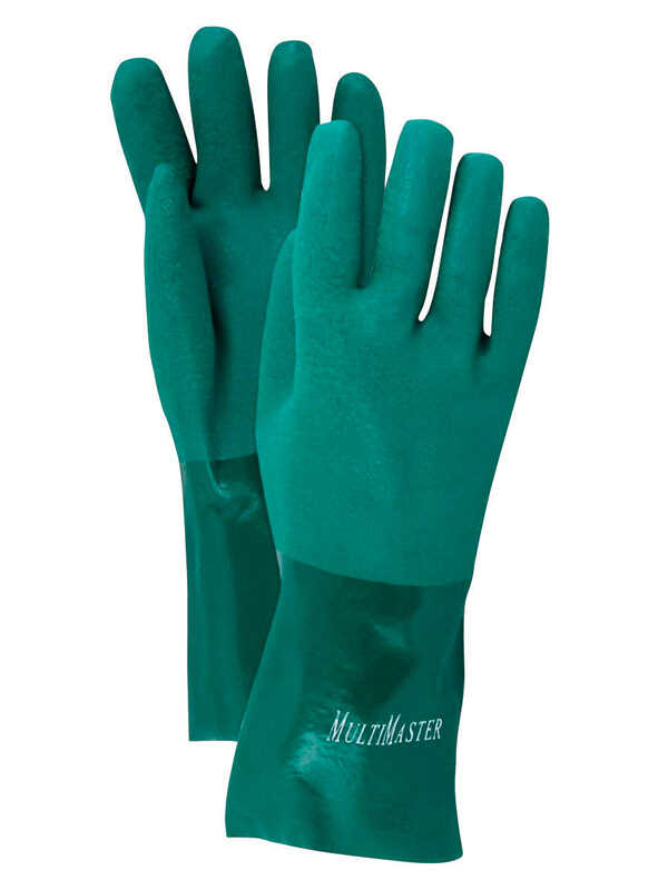 Handmaster  Unisex  Indoor/Outdoor  PVC  Coated  Gloves  Green  L