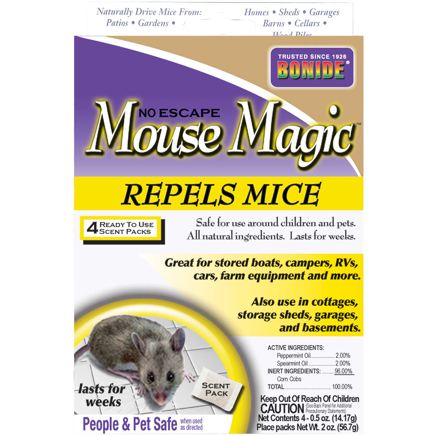 Bonide  Mouse Magic  Animal Repellent  Scent Pouch  For Mice 4 pk