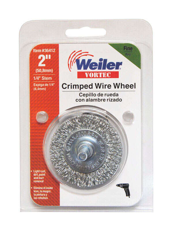 Weiler  Vortec  2 in. Fine  Crimped  Wire Wheel  4500 rpm 1 pc.