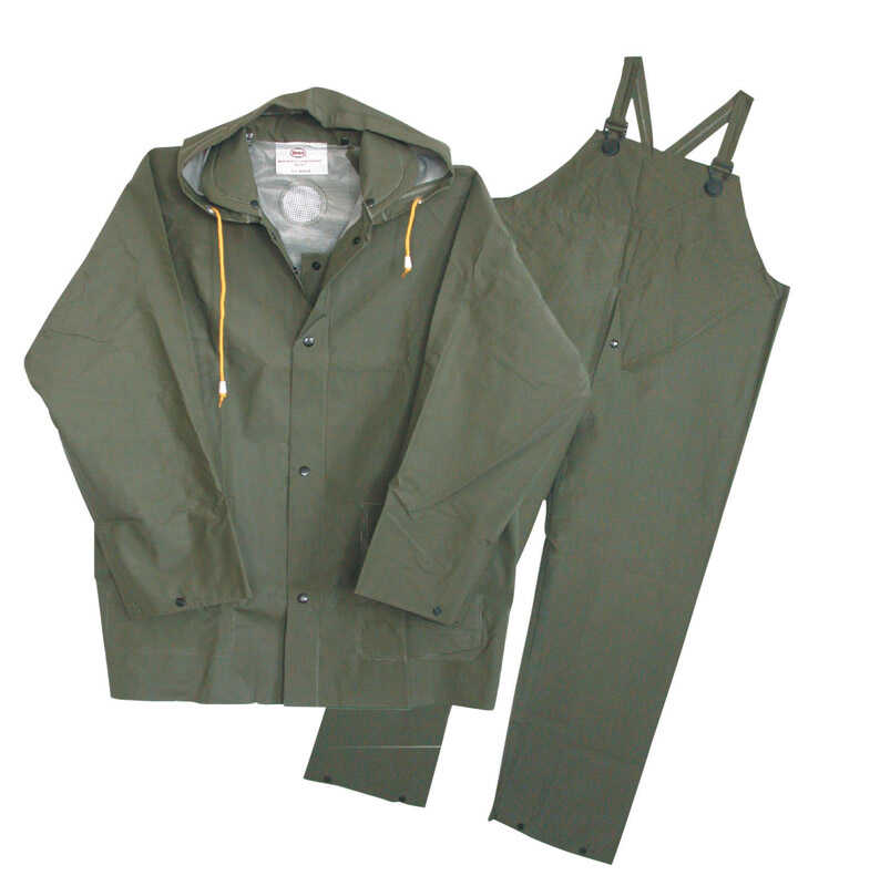 Boss  Green  PVC-Coated Polyester  Rain Suit  XL