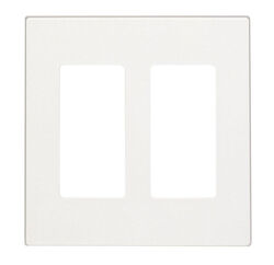 Leviton  Decora  White  2 gang Polycarbonate  GFCI/Rocker  Wall Plate  1 each