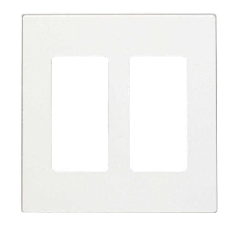 Leviton  White  2 gang Polycarbonate  Wall Plate  1 each GFCI/Rocker