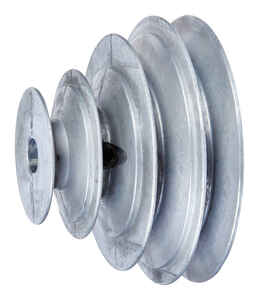 Chicago Die Cast  2/2 1/2/3 1/2/ 4 in. Dia. Zinc  V Groove 4-Step Pulley