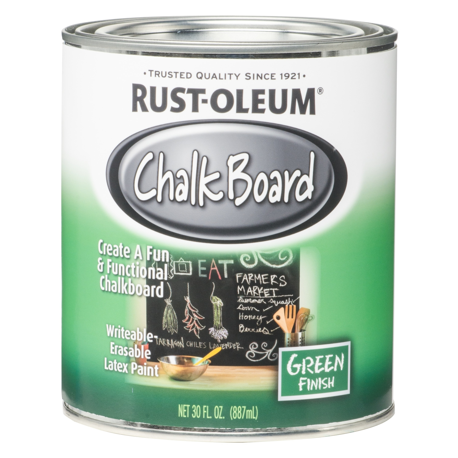 Rust-Oleum  Green  Chalkboard Paint  30 oz.