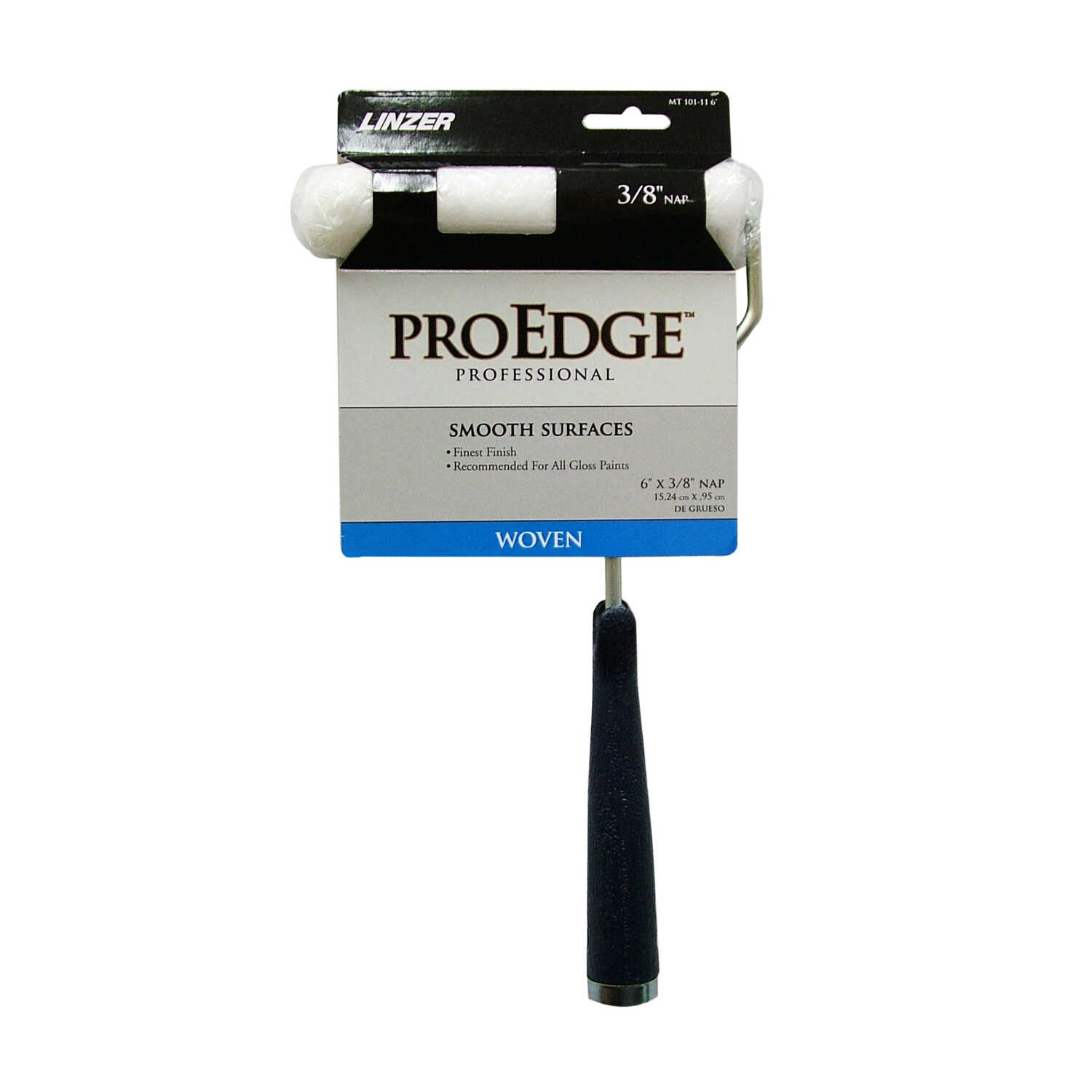 Linzer  Pro Edge  Threaded End 6 in. W Metal/Plastic  Mini  Paint Roller Frame and Cover