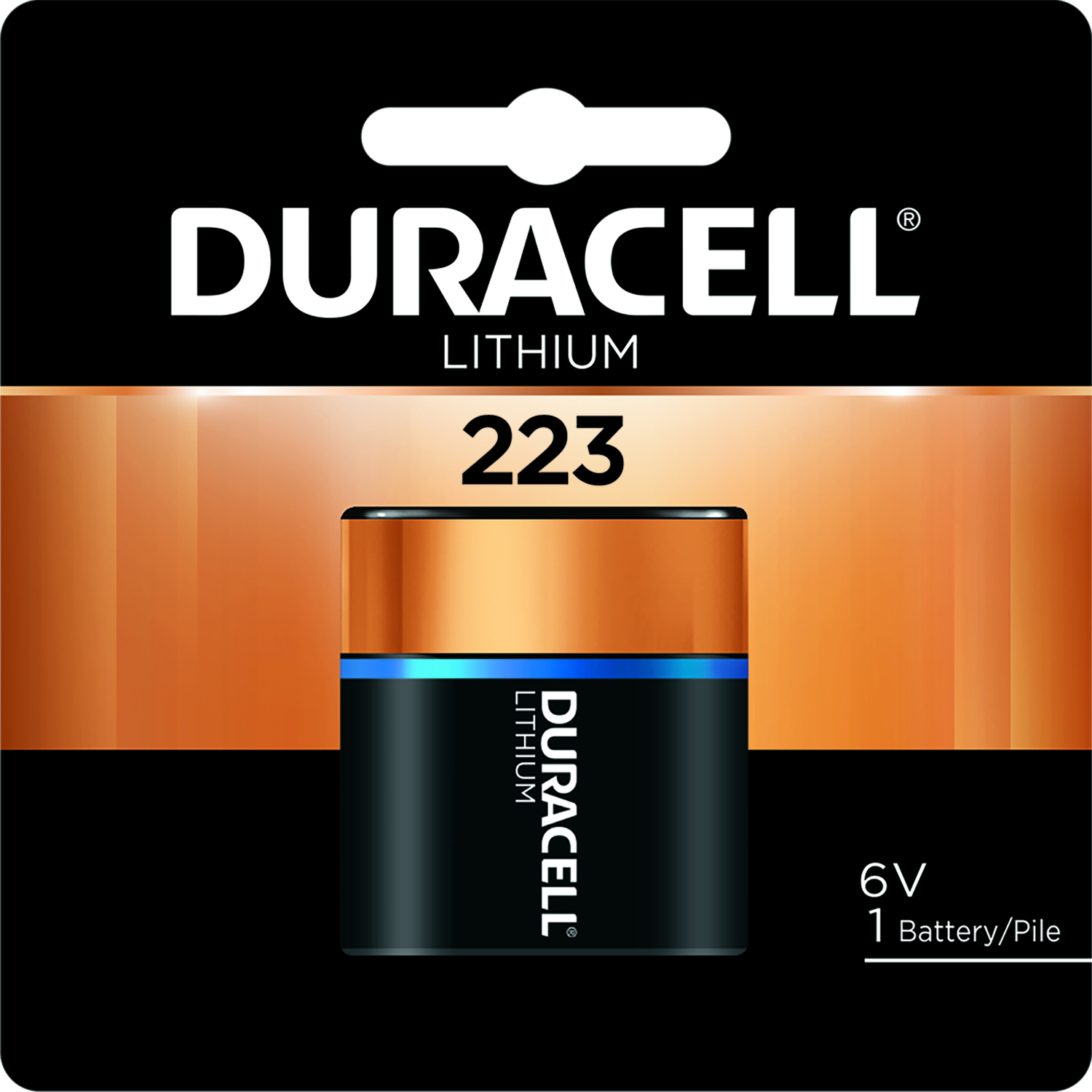 Duracell  223  Camera Battery  DL223ABPK  1 pk Lithium
