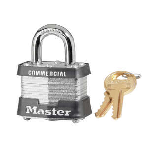 Master Lock  1-5/8 in. W x 1-5/16 in. H Double Locking  Laminated Steel  Padlock  6 pk Keyed Alike