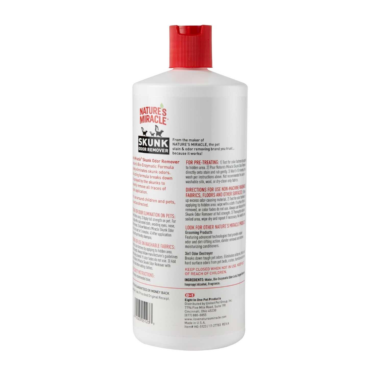 Nature's Miracle No Scent Skunk Odor Remover 32 oz  Liquid