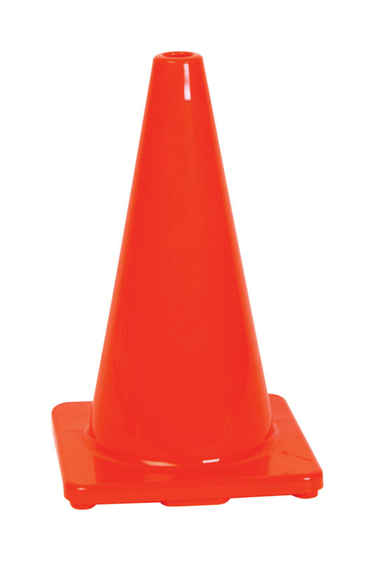 Hy-Ko  Plastic  Safety Cone  18 in.