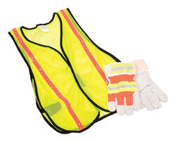 Safety Works  Reflective Safety Vest with Reflective Stripe  Yellow  L