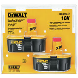 DeWalt  XRP  18 volt Ni-Cad  Battery Combo Pack  2 pc.