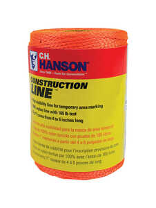 C.H. Hanson  Construction Line  Orange  Chalk Line Refill  540 ft. Twisted