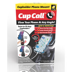 Cup Call  As Seen on TV  Cup Holder Phone Mount  Plastic  1 pk