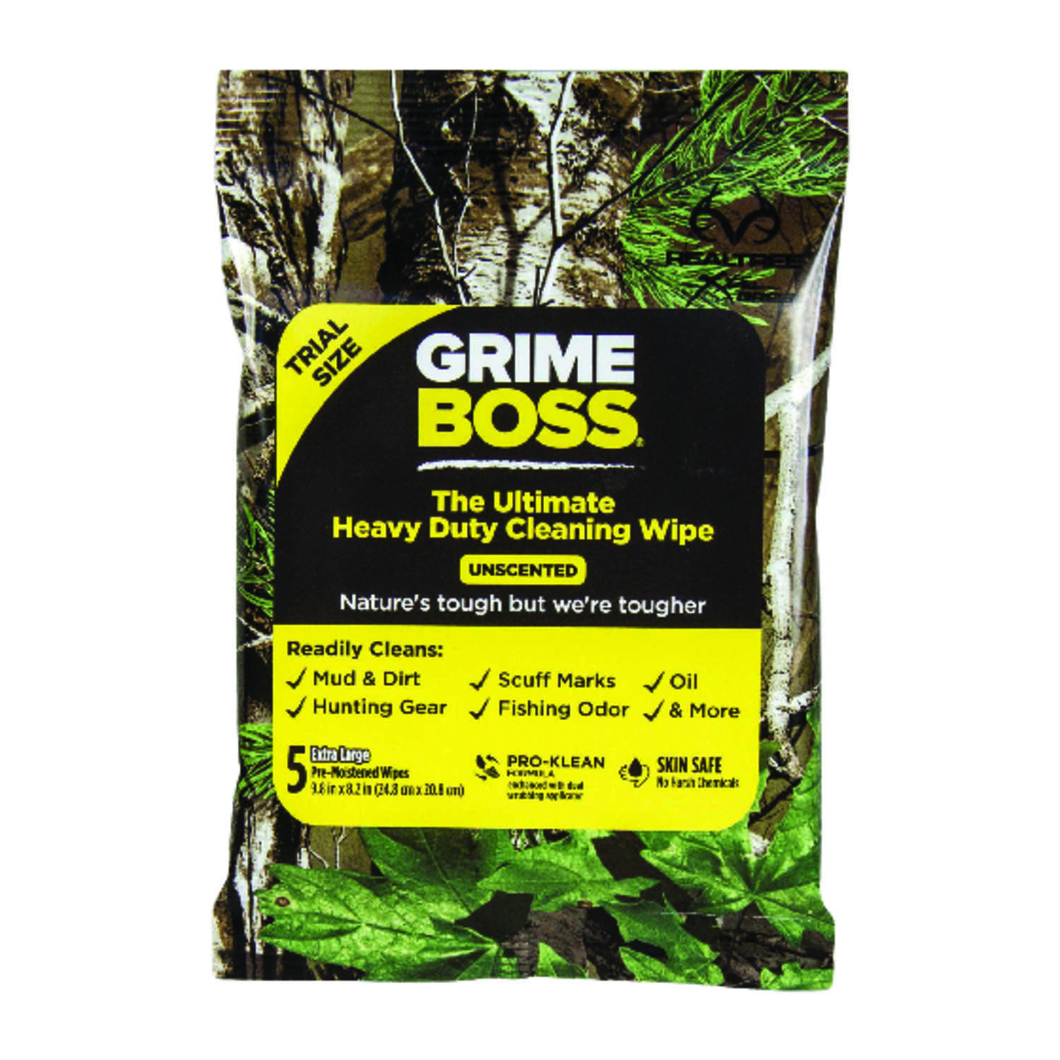 Grime Boss  Fiber Blend  Cleaning Wipes  9.8 in. W x 8.2 in. L 5 pk