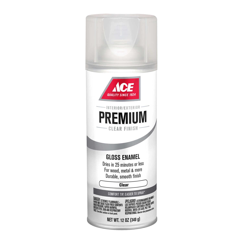 Ace Premium Gloss Clear Enamel Spray Paint 12 oz  - Ace Hardware