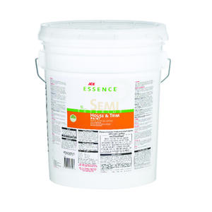 Ace  Essence  Semi-Gloss  White  Acrylic Latex  House & Trim Paint  5 gal.