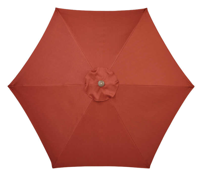 Living Accents  Aspen  9 ft. Tiltable Rust  Patio Umbrella