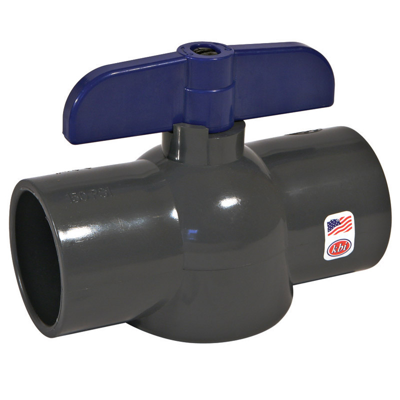 NDS  Ball Valve  1-1/2 in. FPT   x 1-1/2 in. Dia. FPT  PVC  Economy