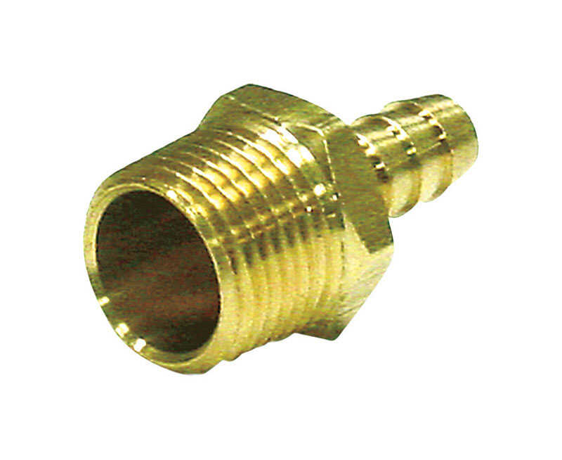 JMF  Brass  Hose Barb  3/8 in. Dia. x 1/8 in. Dia. Yellow  1 pk