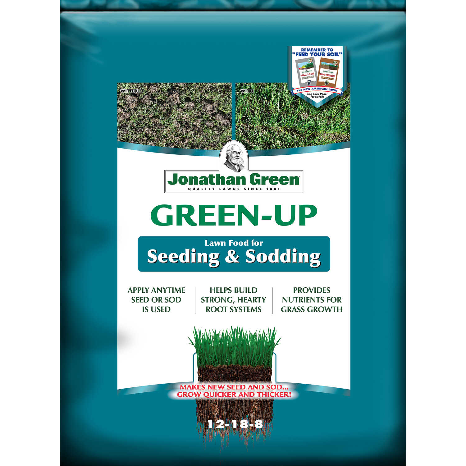 Jonathan Green  12-18-8  New Lawn Starter Fertilizer  For All Grass Types 45 lb.